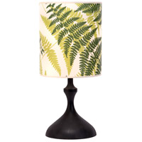 ATB 26 inch 100 watt Dark Wood Table Lamp Portable Light in Green Fern