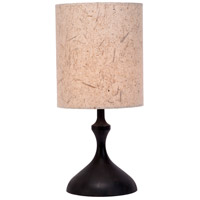 ATB 26 inch 100 watt Dark Wood Table Lamp Portable Light in Mango Leaf