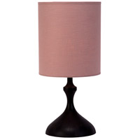 Lights UP 250WD-ROS Atb 26 inch 100 watt Dark Wood Table Lamp Portable Light in Rose Tweed