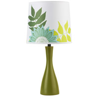Lights UP 260GR-ANG Oscar Boudoir 18 inch 60 watt Grass Table Lamp Portable Light in Anna Green