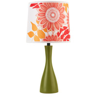 Lights UP 260GR-ANR Oscar Boudoir 18 inch 60 watt Grass Table Lamp Portable Light in Anna Red