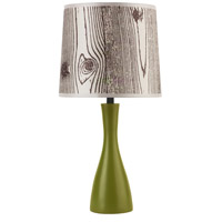 Lights UP 260GR-FBL Oscar 18 inch 60 watt Grass Table Lamp Portable Light in Faux Bois Light