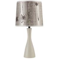 Lights UP 260SO-FBL Oscar 18 inch 60 watt Soy Table Lamp Portable Light in Faux Bois Light