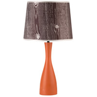 Lights UP 264CA-FBD Oscar 24 inch 60 watt Carrot Table Lamp Portable Light in Faux Bois Dark
