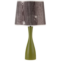 Lights UP 264GR-FBD Oscar 24 inch 60 watt Grass Table Lamp Portable Light in Faux Bois Dark