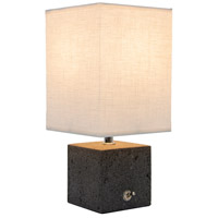 Lights UP 272SQ-WHT Basalt Cast Aggregate Table Lamp Portable Light Square