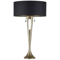 Soiree 31 inch 75 watt Gold Table Lamp Portable Light in Metallic Black & Gold