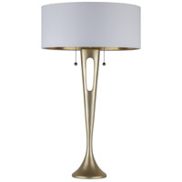 Lights UP Soiree 2 Light Table Lamp in Gold with Metallic White & Gold Shade 281GD-MWG