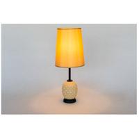 Lights UP 291CG-GOL Pineapple 20 inch 60 watt Coconut Glass Table Lamp Portable Light in Gold Silk Glow