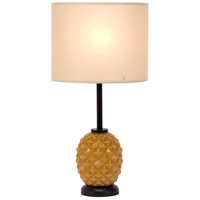 Lights UP Pineapple 1 Light Table Lamp in Pineapple Glass with Chamois Parchment Shade 291PG-PHC