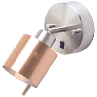 Guppy LED 3 inch Brushed Nickel ADA Sconce Wall Light in Copper Duotrans