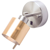 Guppy LED 3 inch Brushed Nickel ADA Sconce Wall Light in Gold Duotrans