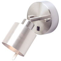 Lights UP 4095BN-SDT Guppy LED 3 inch Brushed Nickel ADA Sconce Wall Light in Silver Duotrans