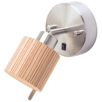 Lights UP 4095BN-PEN Guppy LED 3 inch Brushed Nickel ADA Sconce Wall Light in Penguin Tweed