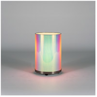 Lights UP 425BN-ODT Meridian Small 11 inch 75 watt Brushed Nickel Table Lamp Portable Light in Opal Duotrans