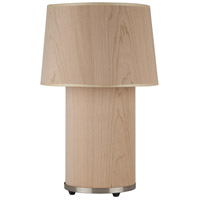 Lights UP 452BN-CWD Mombo 24 inch 75 watt Brushed Nickel Table Lamp Portable Light in Cherry Veneer