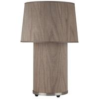 Lights UP 452BN-WWD Mombo 24 inch 75 watt Brushed Nickel Table Lamp Portable Light in Walnut Veneer