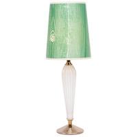 Lights UP 470MG-FBG Colette 26 inch 60 watt Milk Glass Table Lamp Portable Light in Faux Bois Kelly