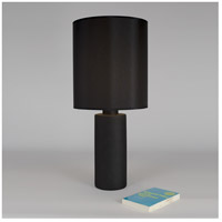 Lights Up Signature 1 Light Table Lamp in Cast Iron Ceramic with Black Silk Glow Shade 501CI-BKG