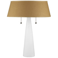 Lights UP 502BQ-DIJ Lizzie 22 inch 60 watt Bisque Ceramic Table Lamp Portable Light in Dijon Tweed
