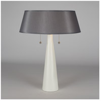 Lights UP 502BQ-PLA Lizzie 22 inch 60 watt Bisque Ceramic Table Lamp Portable Light in Platinum Silk Glow