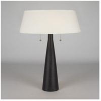 Lights UP 502CI-PEB Lizzie 22 inch 60 watt Cast Iron Ceramic Table Lamp Portable Light in Pebble Silk Glow