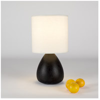 Lights Up Signature 1 Light Table Lamp in Cast Iron Ceramic with Ivory Ipanema Shade 506CI-IVY
