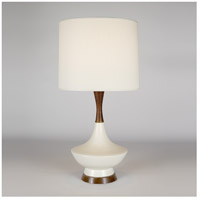 Lights Up Signature 1 Light Table Lamp in Bisque Ceramic with Ivory Ipanema Shade 507BQ-IVY