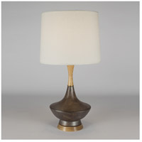 Duck 30 inch 150 watt Rust Ceramic Table Lamp Portable Light in Ivory Ipanema