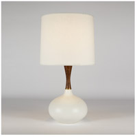 Pops Deluxe 27 inch 150 watt Bisque Ceramic Table Lamp Portable Light in Ivory Ipanema