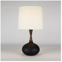 Lights UP 508CI-CRO Pops 27 inch 100 watt Cast Iron Ceramic Table Lamp Portable Light in Croissant Silk Glow