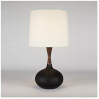Lights UP 508CI-BKG Pops 27 inch 100 watt Cast Iron Ceramic Table Lamp Portable Light in Black Silk Glow