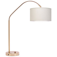 Lights UP 569BB-IVY Belle Arc 32 inch 60 watt Brass Table Lamp Portable Light in Ivory Ipanema