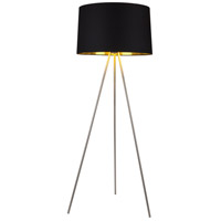 Lights UP 703BN-MBG Weegee 62 inch 150 watt Brushed Nickel Floor Lamp Portable Light in Metallic Black & Gold