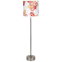 Lights UP CanCan 2 1 Light Floor Lamp in Brushed Nickel with Anna Red Shade 735BN-ANR