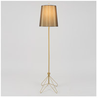 Flight 66 inch 100 watt Gold Floor Lamp Portable Light in Driftwood Silk Glow