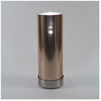 Lights Up Signature 1 Light Floor Lamp in Brushed Nickel with Copper Duotrans Shade 765BN-CDT