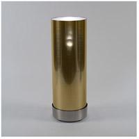 Lights UP 765BN-GDT Meridian Demi 30 inch 100 watt Brushed Nickel Floor Lamp Portable Light in Gold Duotrans