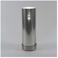 Lights UP 765BN-SDT Meridian Demi 30 inch 100 watt Brushed Nickel Floor Lamp Portable Light in Silver Duotrans