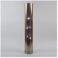 Lights UP 767BN-CDT Meridian 59 inch 60 watt Brushed Nickel Floor Lamp Portable Light in Copper Duotrans