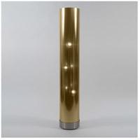 Lights UP 767BN-GDT Meridian 59 inch 100 watt Brushed Nickel Floor Lamp Portable Light in Gold Duotrans