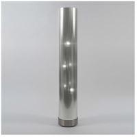Lights UP 767BN-SDT Meridian 59 inch 100 watt Brushed Nickel Floor Lamp Portable Light in Silver Duotrans