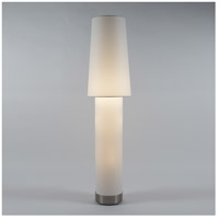 Lights Up Signature 3 Light Floor Lamp in Brushed Nickel with White Linen Shade 777BN-WHT