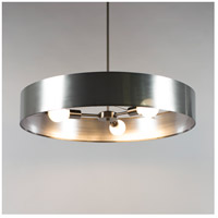 Lights UP 8030BN-SOR Ziggy LED 5 inch Brushed Nickel Chandelier Ceiling Light in Silver Organza