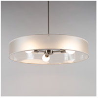 Ziggy LED 5 inch Brushed Nickel Chandelier Ceiling Light in Ultrafrost