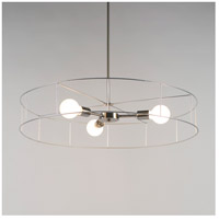 Lights UP 8030BN-WFW Ziggy LED 5 inch Brushed Nickel Chandelier Ceiling Light in White Wire Frame