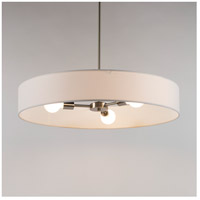 Lights UP 8030BN-SOR Ziggy 3 Light 5 inch Brushed Nickel Chandelier Ceiling Light in Silver Organza