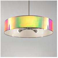 Lights UP 8050BN-ODT Ziggy 5 Light 5 inch Brushed Nickel Chandelier Ceiling Light in Opal Duotrans