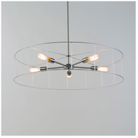Lights UP 8050BN-WFS Ziggy LED 5 inch Brushed Nickel Chandelier Ceiling Light in Silver Wire Frame