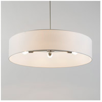 Lights UP 8050BN-WHT Ziggy LED 5 inch Brushed Nickel Chandelier Ceiling Light in White Linen